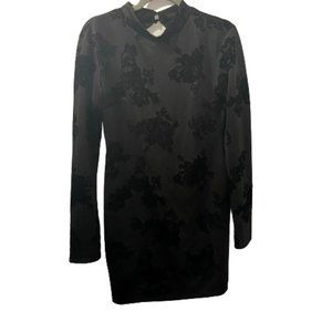 See You Monday Black Mock Neck Bodycon Dress XL